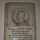 Dr. Petz Lajos-dombormű