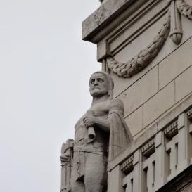 Az egykori Magyar Királyi Igazságügy-miniszterium szobrai