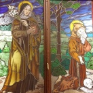 Assisi Szent Klára és Assisi Szent Ferenc üvegablak