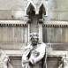 Országház - keleti homlokzat a díszkapu felett: Nagy Lajos