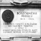 Böszörményi Mihály emléktáblája