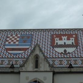 A zágrábi Szent Márk-templom tetődíszítése