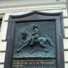 XII. Károly svéd király emléke