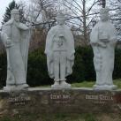 Szent István, Szent Imre  és Boldog Gizella szoborcsoportja