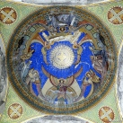 Jézus siratása - Fiumei úti sírkert, kupolasír - mozaikkép
