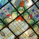 Az Andrássy lépcsőház mennyezeti díszüvege