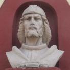 István király mellszobra