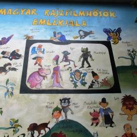 Magyar rajzfilmhősök emlékfala
