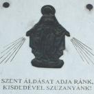 Szűz Mária domborműves tábla