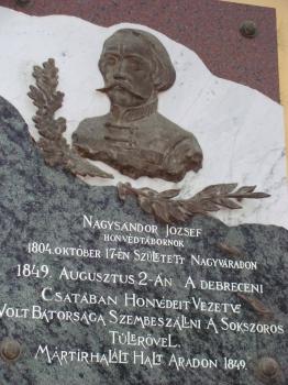 Nagysándor József-emléktábla