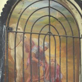 Szent Márton fél köpenyét a koldusnak adja