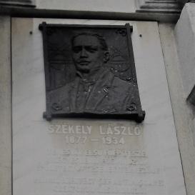 Székely László-emléktábla