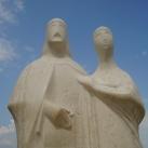 András és Anasztázia szobra