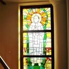 Magyarok Nagyasszonya Templom színes üvegablakai