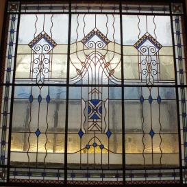 A Gresham lépcsőház üvegablakai