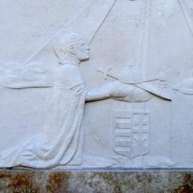 Szent István király felajánlja az országot Szűz Máriának