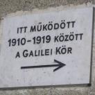 Galilei Kör emléktáblái