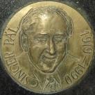 Plakett Csinger Pál síremlékén