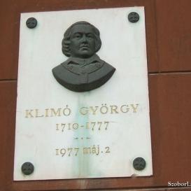 Klimó György emléktáblája