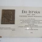 Éri István-emléktábla