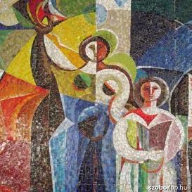 Oktatás - mozaik kompozíció