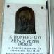 Honfoglaló Árpád vezér domborműves emléktábla