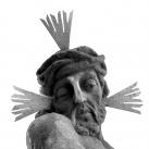 Szomorú Krisztus-szobor