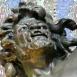 Triton halászó kentaur-szobor