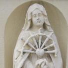 Szentháromság-szobor Hétfájdalmú Szűzanya ábrázolással
