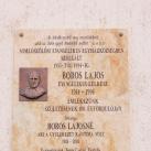 Boros Lajos és Boros Lajosné emléktáblája