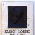 Szabó Lőrinc emléktáblája