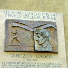 Tánczos Gábor domborműves emléktábla