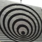 Luxemburg Rádió-televízió épületének homlokzata