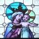 A zebegényi Havas Boldogasszony katolikus templom szentélyének ablakai