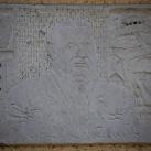 Mikszáth Kálmán kő portrédombormű