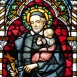 Páli Szent Vince üvegablak