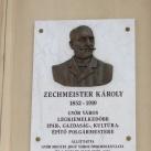 Zechmeister Károly-emléktábla