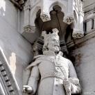 Országház - nyugati homlokzat: I. (Anjou) Lajos