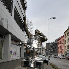 Július Satinský emlékműve