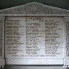 I. világháborús emléktábla