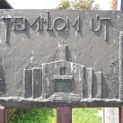 Templom út  -  utcanévtábla