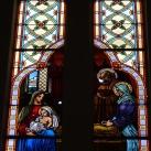 Pécskai római katolikus templom üvegablakai 1.