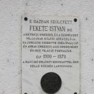 Fekete István-emléktábla