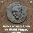 Dr. Máthé Ferenc-emléktábla
