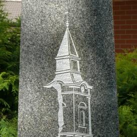Ispotály-templom emlékműve