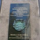 Mária Dorottya utcanévtábla