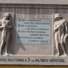 3-as honvéd gyalogezred domborműves emléktáblája