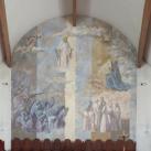 A Szent István Király Plébániatemplom oltára fölötti secco