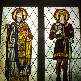 Szent István és Szent Imre üvegablak