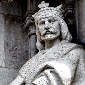 Országház - nyugati homlokzat: Orseolo Péter
